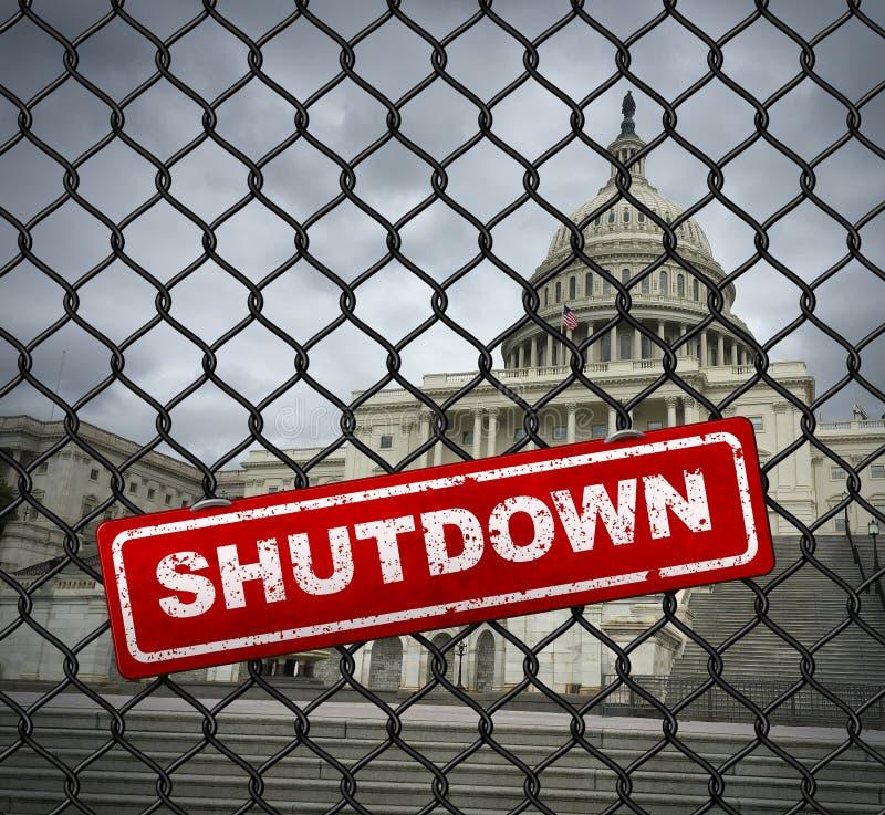 USA rzędu zamknięcie ilustracja wektor