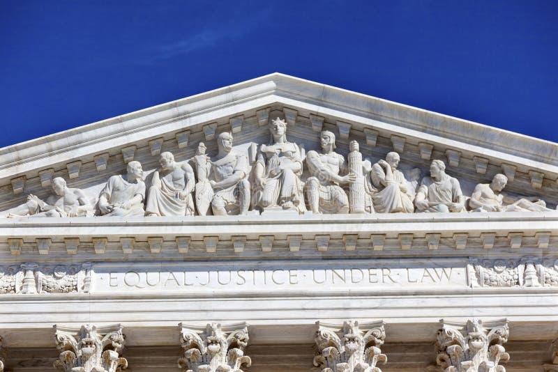 USA sądu najwyższy statui Wzgórze Kapitolu washington dc zdjęcie royalty free