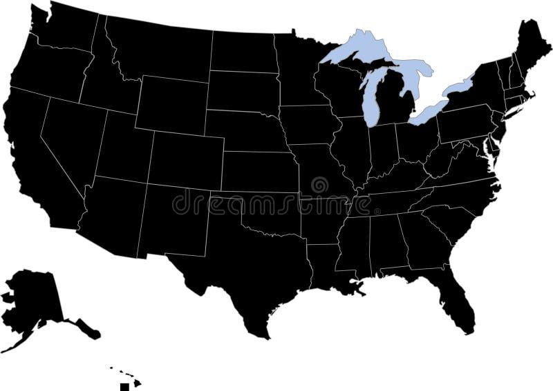 USA-Schattenbild stock abbildung