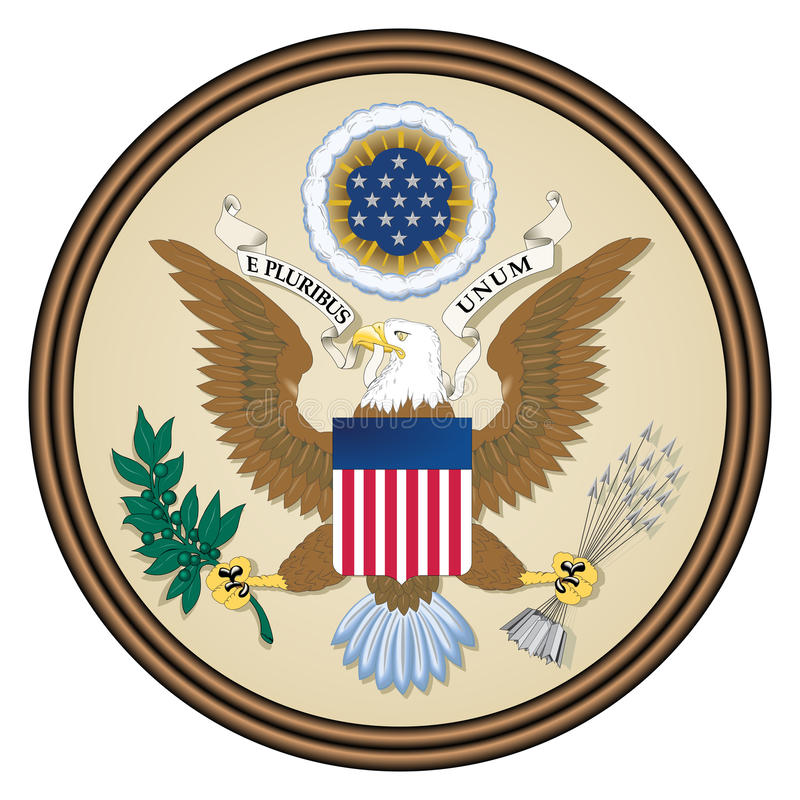 Download USA seal stock illustration. Image of isolated, round - 14484921