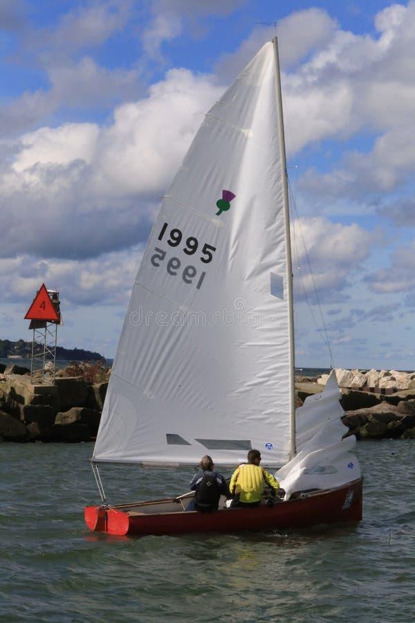 USA-seglinghändelse arkivbild