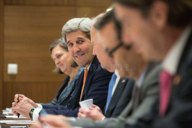 USA sekretarka stan John Kerry obrazy stock