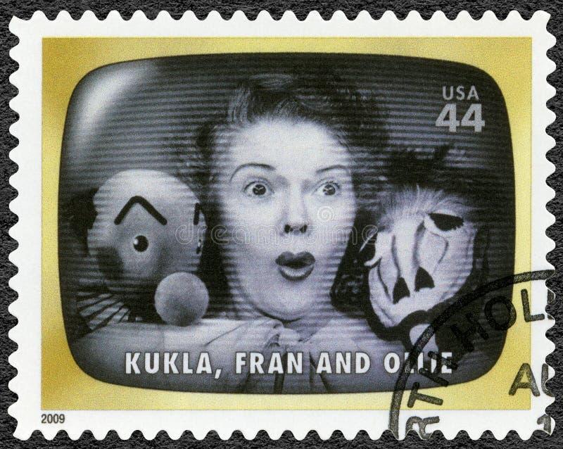 USA - 2009: shower Kukla, Fran och Ollie, tidigt TVminne arkivfoto