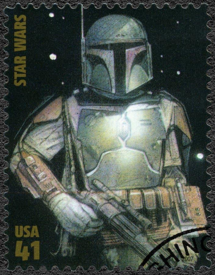 USA - 2007: shows Boba Fett, series Premiere of Movie Star Wars 30 anniversary stock photo
