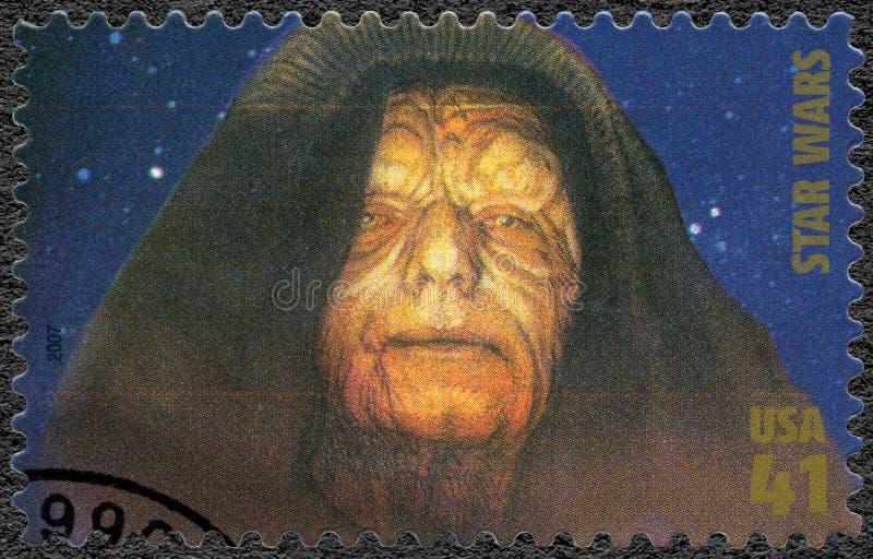 USA - 2007: shows Emperor Sheev Palpatine, Darth Sidious series Premiere of Movie Star Wars 30 anniversary royalty free stock photos