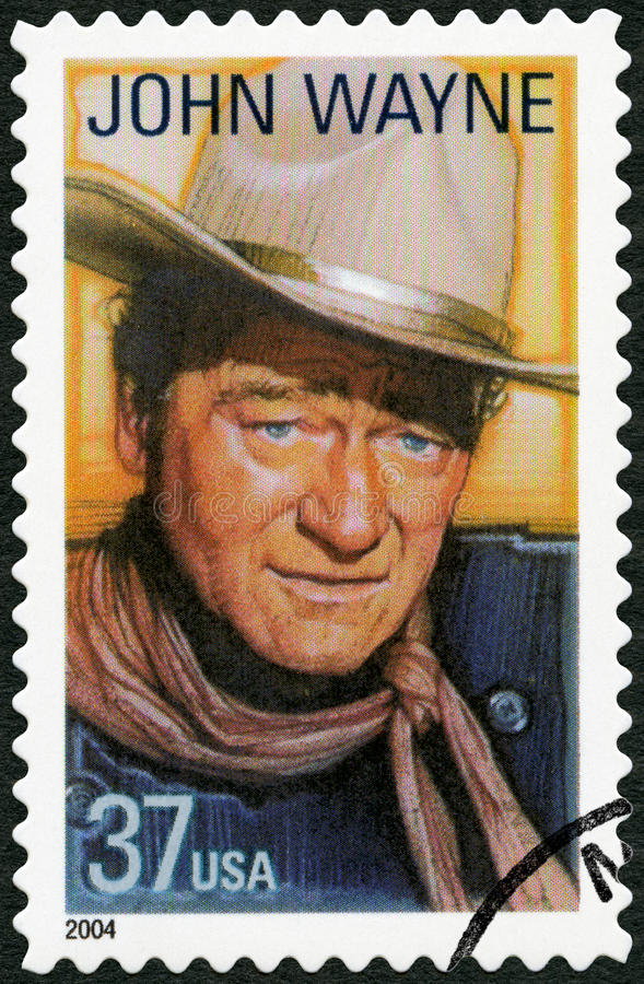 USA - 2004: shows Marion Mitchell Morrison John Wayne (1907-1979), series Legends of Hollywood. UNITED STATES OF AMERICA - CIRCA 2004: A stamp printed in USA stock photos