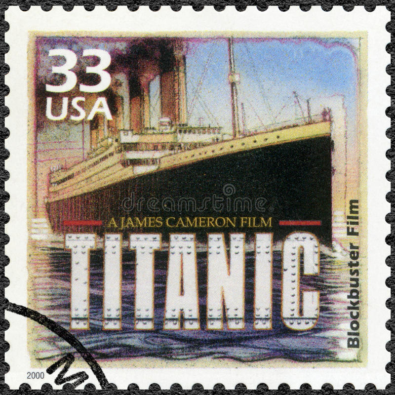USA - 2000: shows Poster for Titanic, 1997, devote blockbuster film, series Celebrate the Century, 1990s stock photo