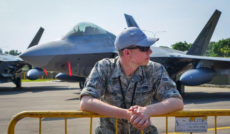USA siły powietrzne USAF żołnierz obrazy stock