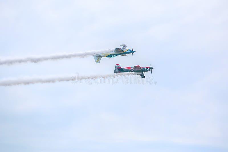 USA siły powietrzne Warbirds spełniania anteny manewry obrazy royalty free