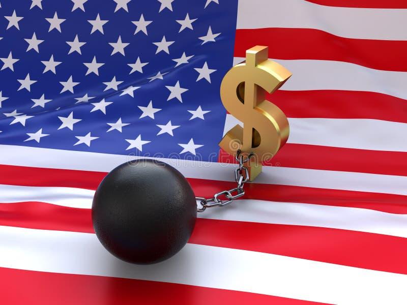 USA skuld vektor illustrationer