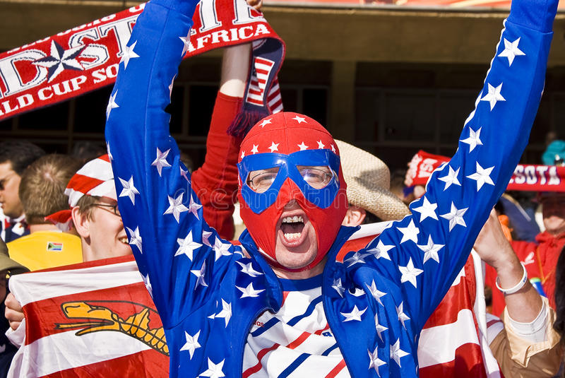 Download USA Soccer Fan In Luchador Mask - FIFA WC Editorial Stock Photo - Image: 14859493