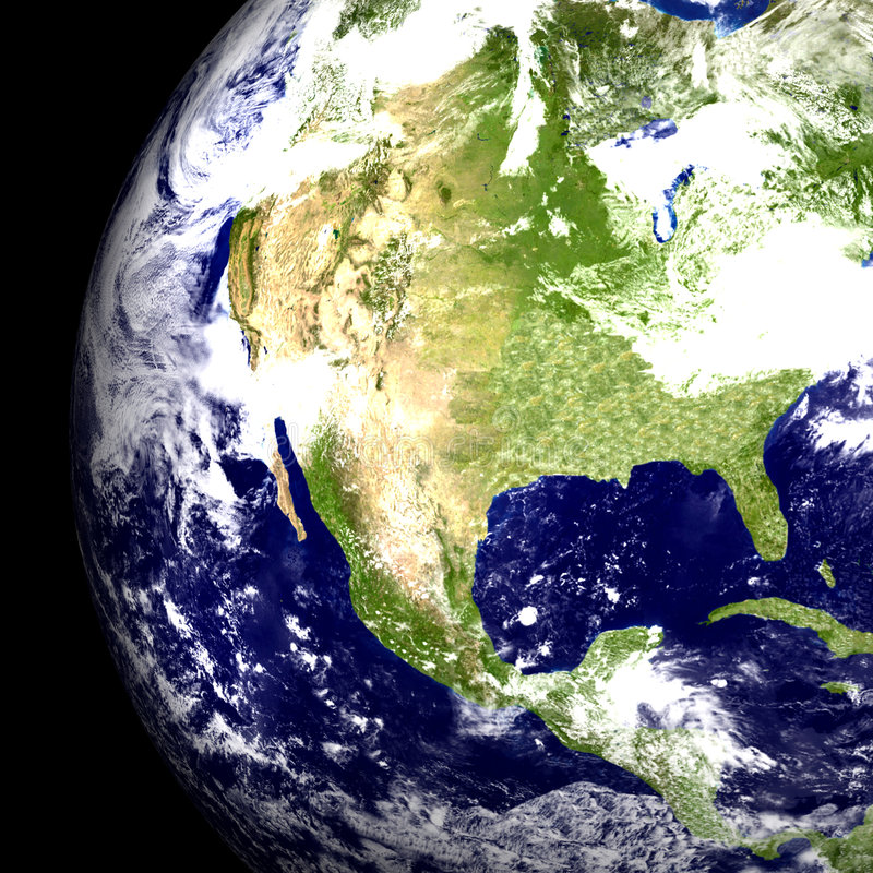 Download USA from Space stock illustration. Image of gulf, photorealistic - 1183413