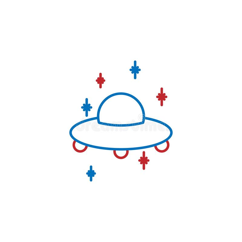 USA, space needle icon. Element of USA culture icon. Thin line icon for website design and development, app development. Premium. Icon on white background royalty free illustration
