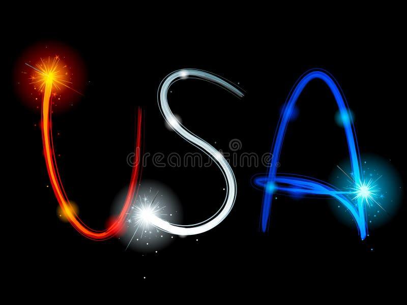 Download USA sparkler streaks stock vector. Image of fireworks - 19800543