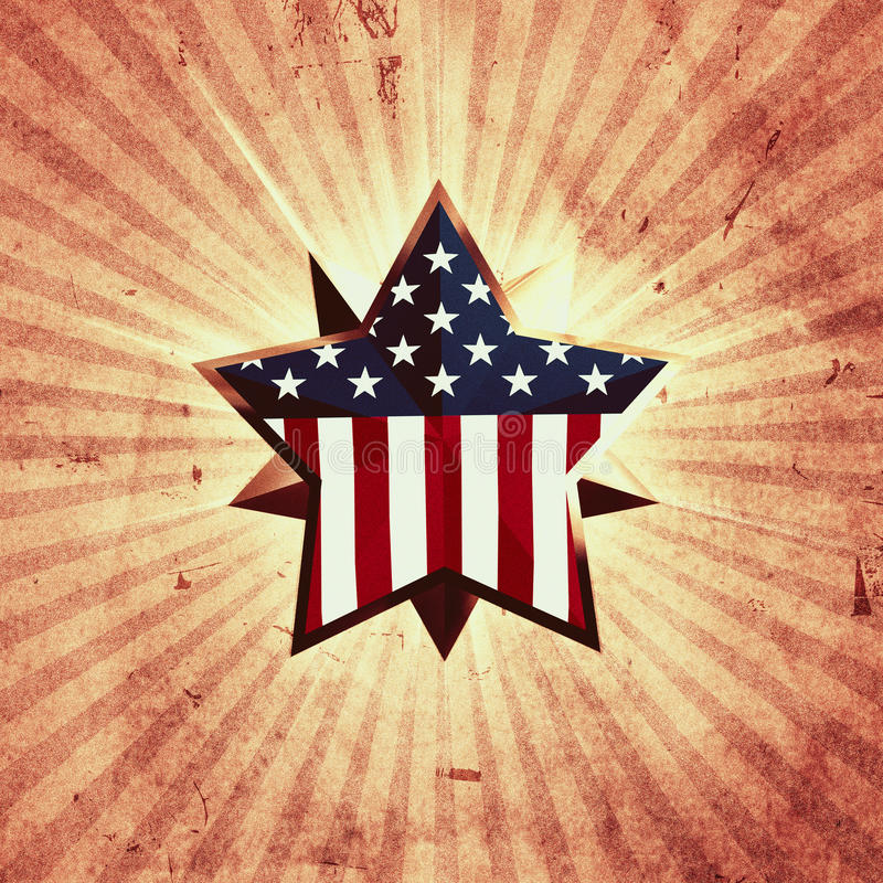 USA Star Royalty Free Stock Image
