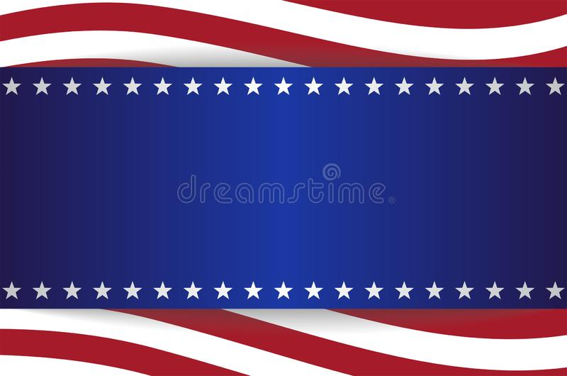 USA Star Flag Background Stripes Elements Banner stock photography