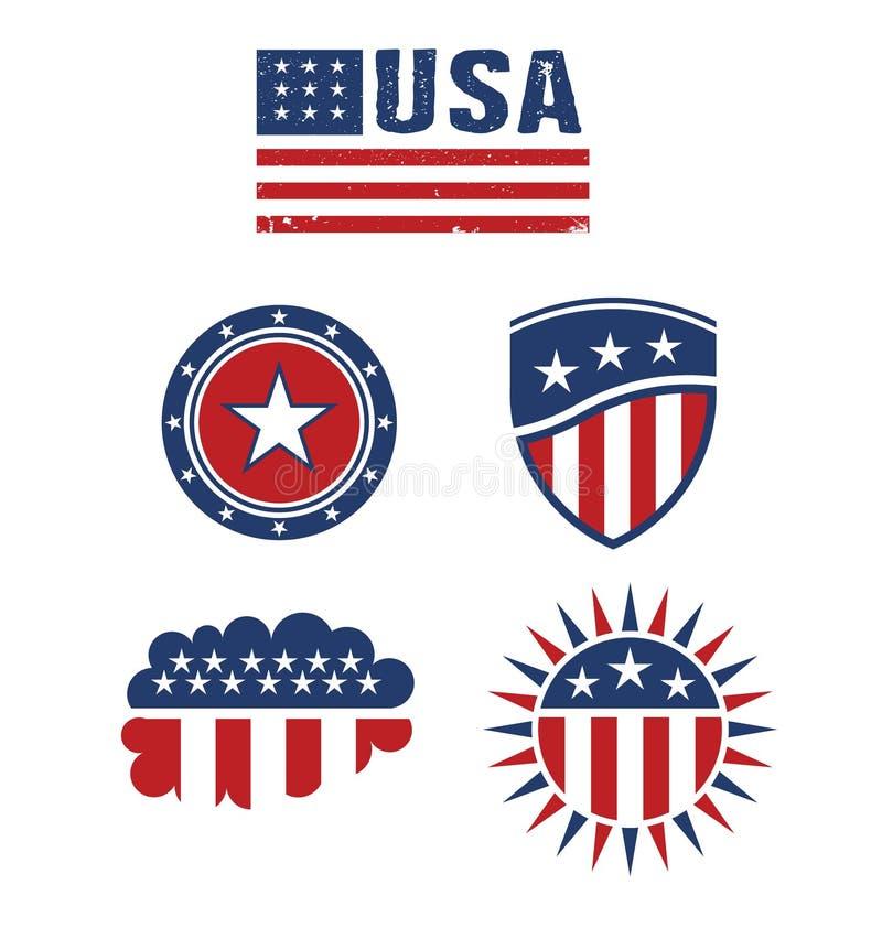 Download USA Star Flag Design Elements Stock Illustration - Illustration: 31542754