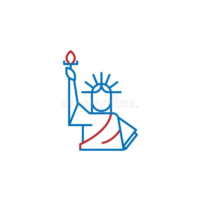 USA, statue of Liberty icon. Element of USA culture icon. Thin line icon for website design and development, app development. Premium icon on white background stock illustration