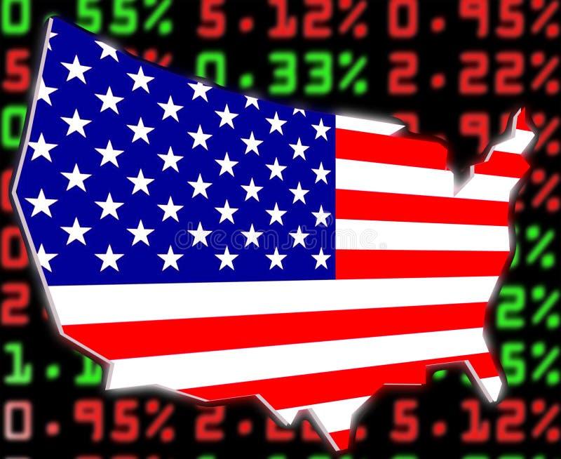 Usa stock market exchange vector illustration