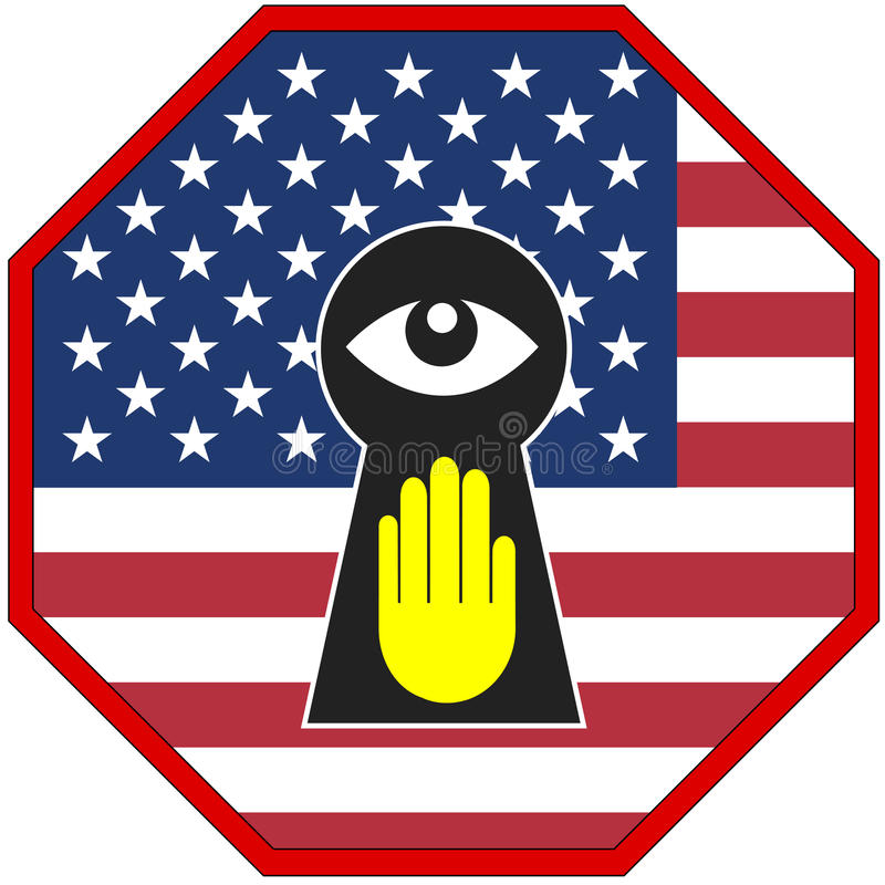 USA Stop Spying. European countries insist that the US Government stops spying on them vector illustration
