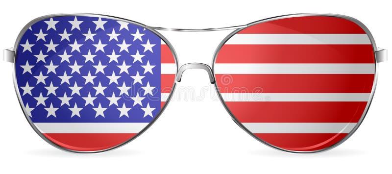 Usa sunglasses stock illustration