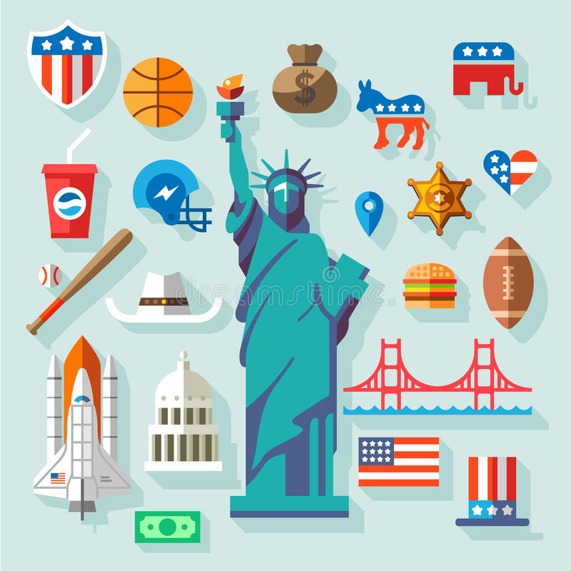 USA Symbols stock illustration