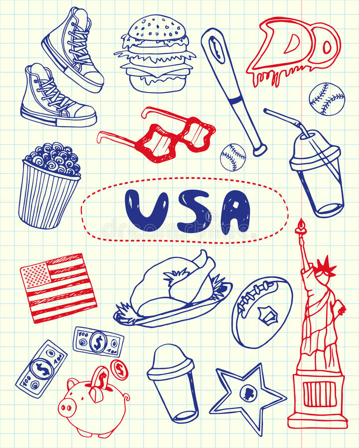 how to draw american symbols