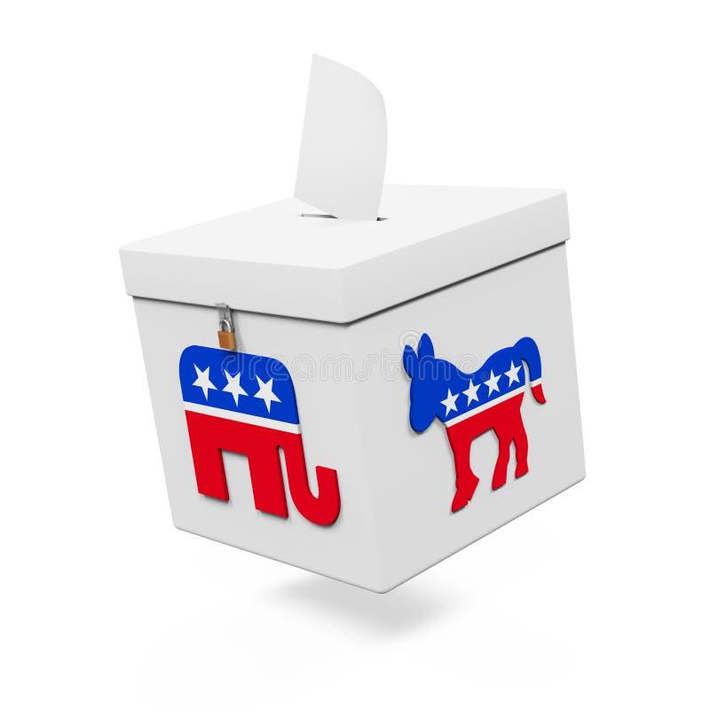 USA tajnego głosowania pudełko ilustracja wektor