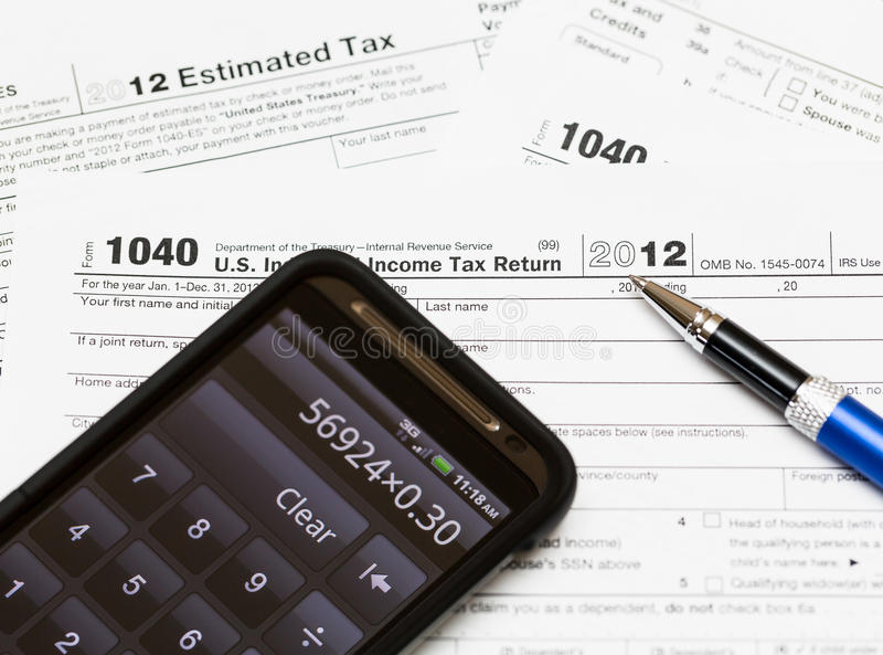 Download USA Tax Form 1040 For Year 2012 Stock Image - Image of paper, fiscal: 26290739