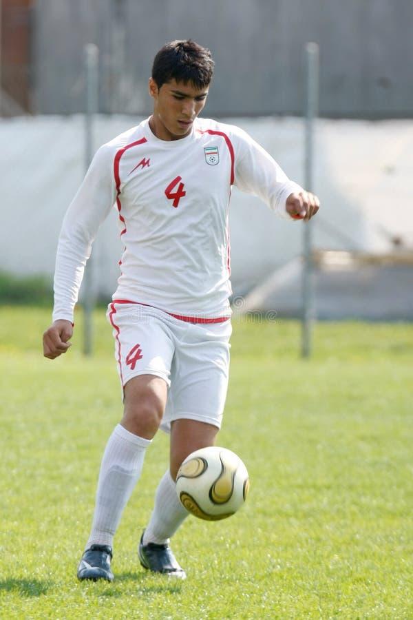 USA team gegen der IRAN-Team, Jugendfußball stockfotos