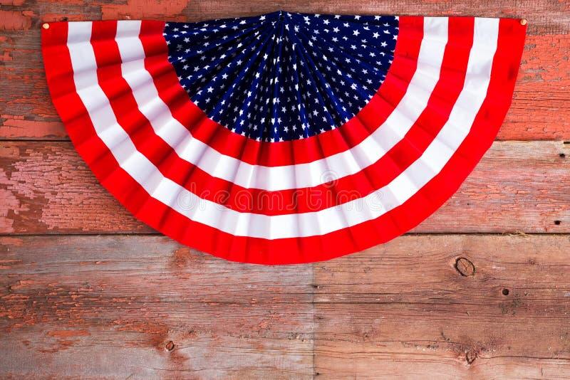 USA 4th av Juli den patriotiska rosetten arkivbilder
