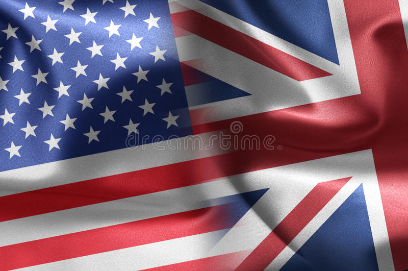 Download USA an UK flags stock illustration. Illustration of anglo - 21479473