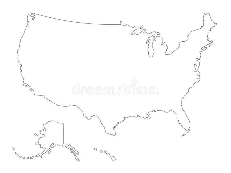 Usa Karte Umrissen Vektor Abbildung Illustration Von Kansas 8085208