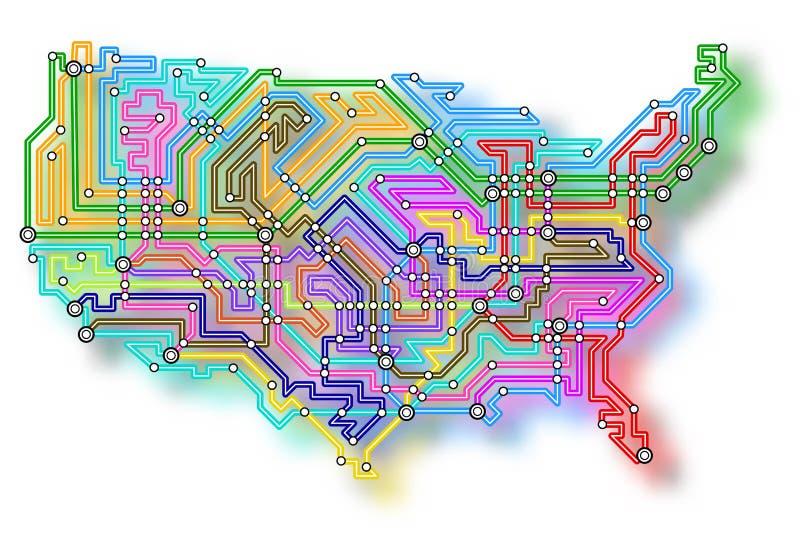 USA Underground Map Stock Photos