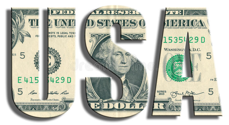 USA - United States of America. US Dollar texture. stock photography