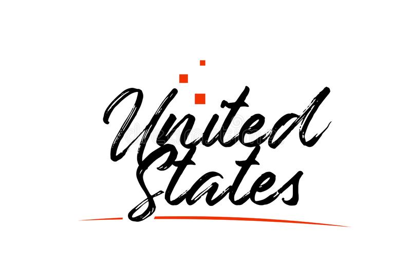 USA United States country typography word text for logo icon design vector illustration