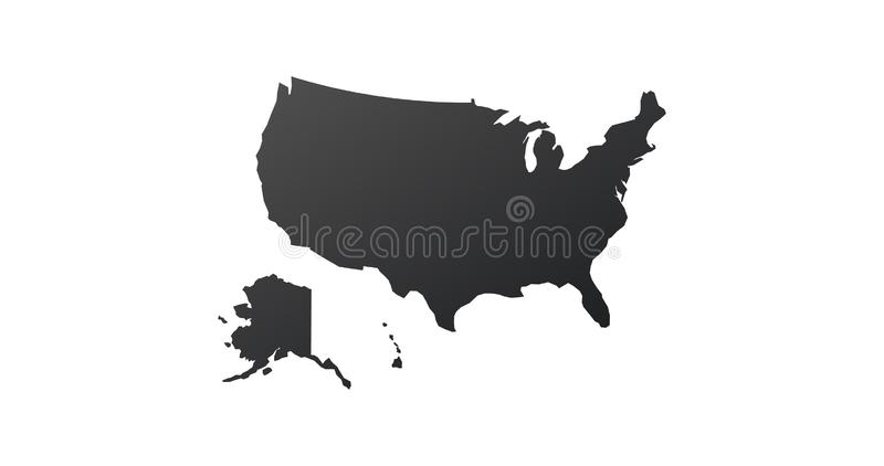 USA United States map icon. map silhouette. Vector illustration isolated on white background vector illustration