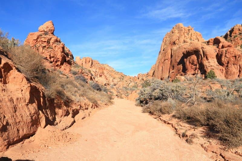 USA Utah, Arizona,/: Arroyo w Paria jaru pustkowiu obrazy royalty free