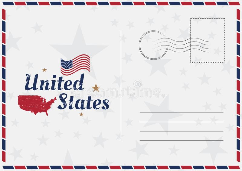 download usa vector vintage postcard with american flag and map template for your design cards