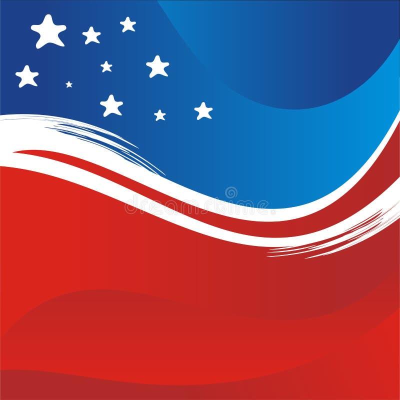 USA - Vektorhintergrund-, neues und modernesdesign der amerikanischen Flagge stock abbildung