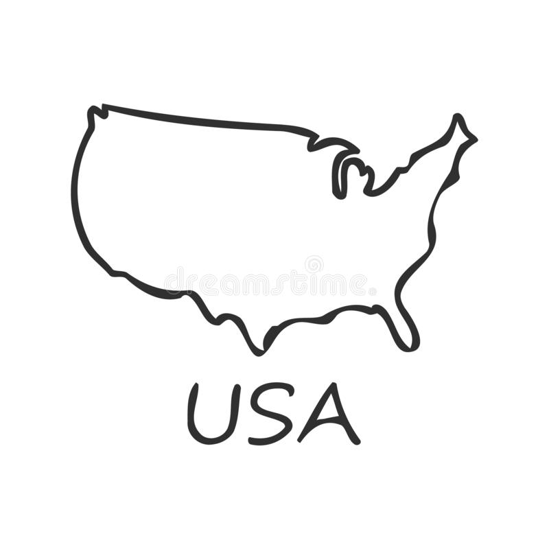 USA ?versiktssymbol bakgrund isolerad white ocks? vektor f?r coreldrawillustration vektor illustrationer