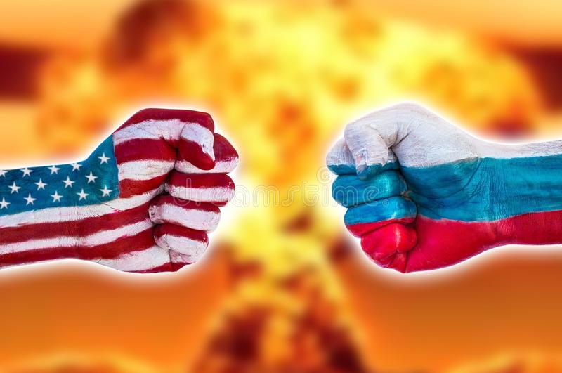 USA versus Russia royalty free stock photo