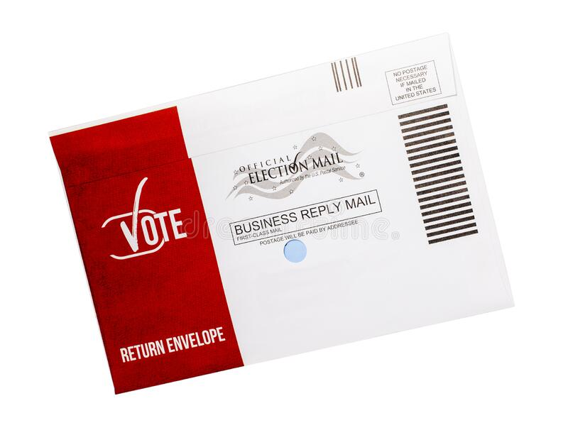 USA Vote By Mail Ballot Isolated royalty free stock photo