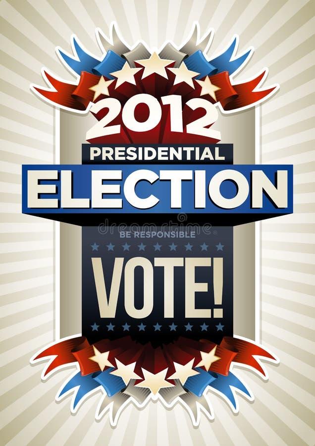 USA-Wahl-Plakat Stockfotografie