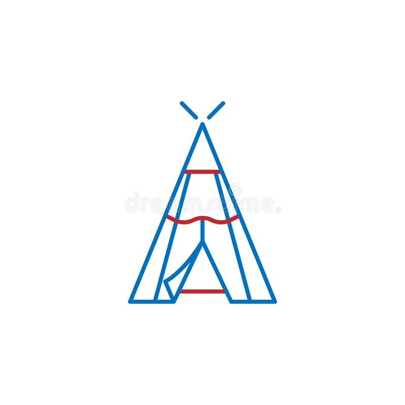 USA, wigwam icon. Element of USA culture icon. Thin line icon for website design and development, app development. Premium icon. On white background royalty free illustration