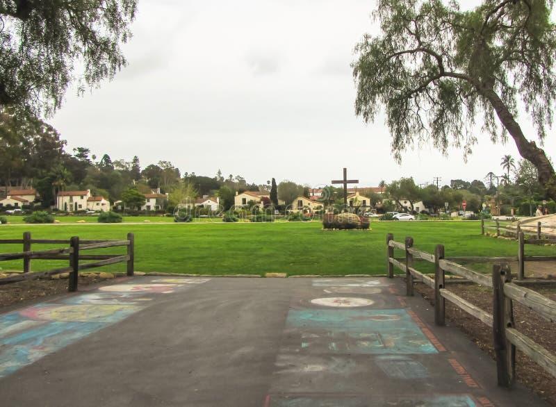 USA Wiosna 2015 Stara misja Santa Barbara fotografia stock