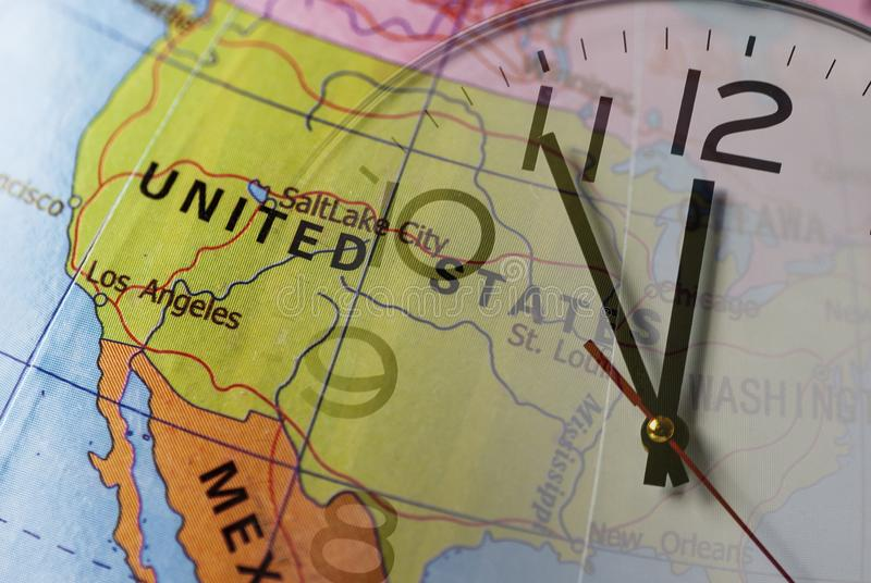 Usa Time Zone Map Stock Photos - Download 18 Royalty Free Photos