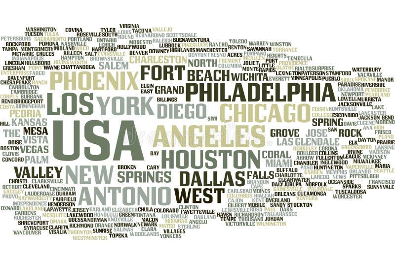 USA-Wortwolke vektor abbildung