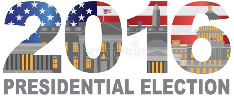 2016 USA wybór prezydenci konturu ilustracja ilustracja wektor