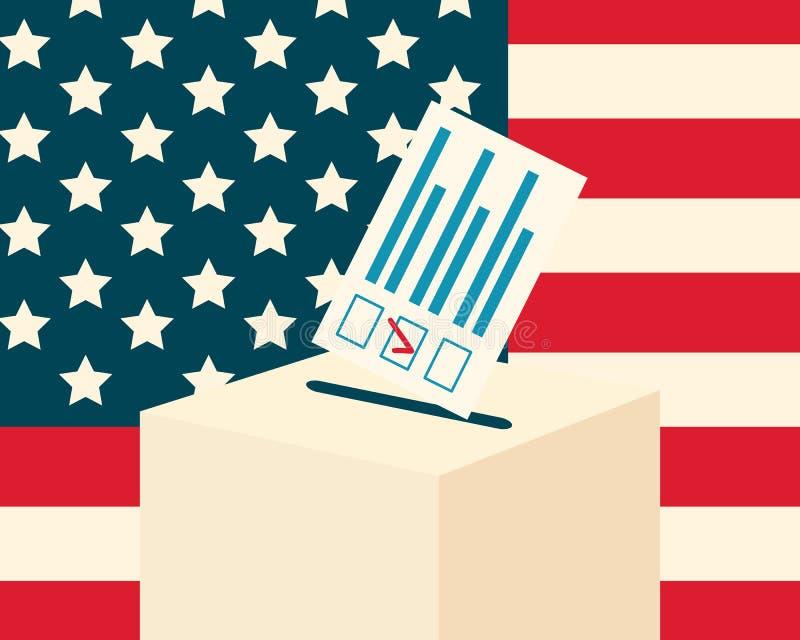 USA wybory pojęcie ilustracja wektor